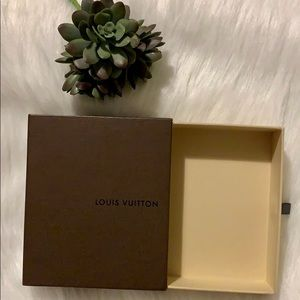 💯 Authentic Louis Vuitton Small Leather Good Box